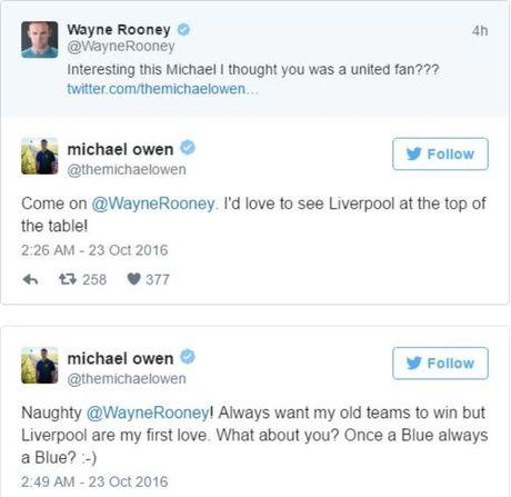 Michael Owen va Wayne Rooney dau da du doi tren Twitter - Anh 2