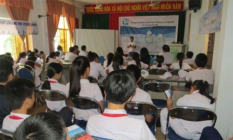 Hang tram hoc sinh tham gia Chuong trinh 'Hay chung tay bao ve dai duong xanh' - Anh 1