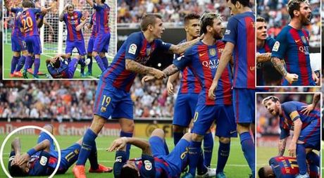Neymar, Suarez bi 'di vat' nem trung dau, Messi noi dien thach thuc fan - Anh 1