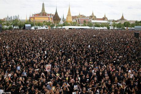 Hang nghin nguoi dan Thai hat quoc ca tuong nho nha vua Bhumibol Adeladej - Anh 2