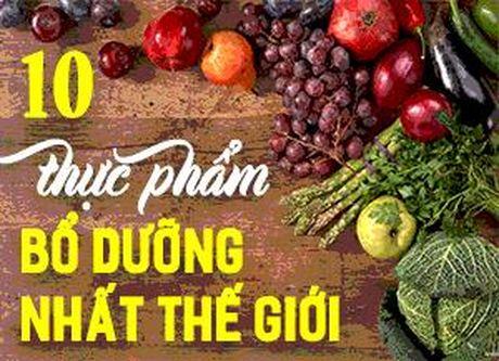 10 loai thuc pham bo duong nhat the gioi - Anh 1