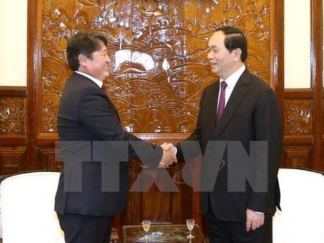 Chu tich nuoc: Tiep tuc thuc day quan he hai nuoc Viet Nam-Mong Co - Anh 1