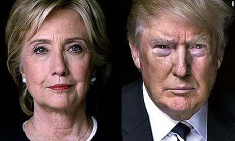 Bau cu My: Ba Clinton dan truoc ong Trump hai con so - Anh 1