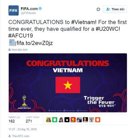 FIFA, Dong Nam A chuc mung U19 Viet Nam - Anh 1