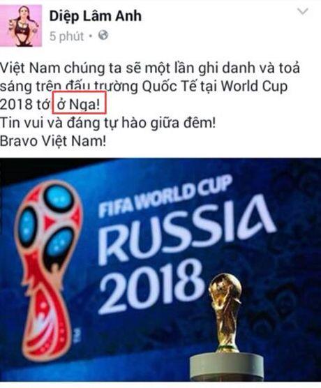 Diep Lam Anh giai thich su co chuc mung U19 Viet Nam nham giai dau - Anh 1