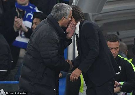 Conte an mung mau lua, Mourinho kho chiu ra mat - Anh 1
