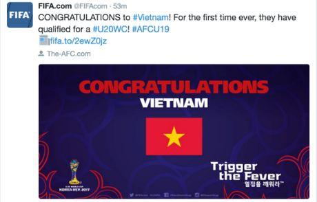 FIFA chuc mung Viet Nam lan dau du U20 World Cup - Anh 1