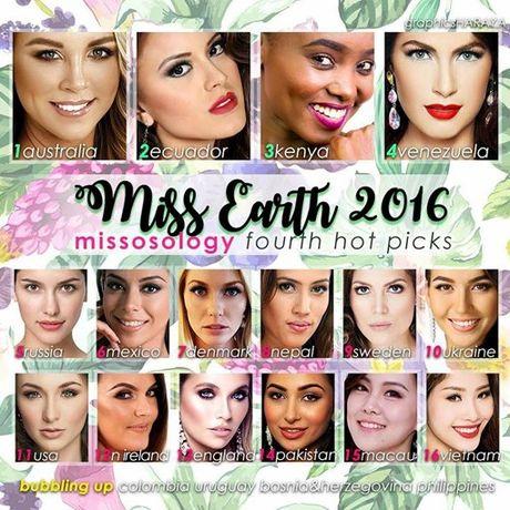 Nam Em co mat trong tat ca cac trang binh chon cho Miss Earth 2016 - Anh 2