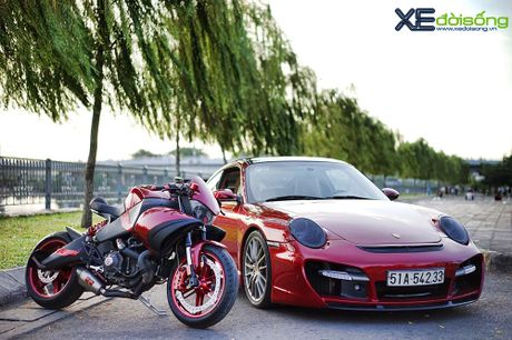 Porsche 911 Carrera S do TechArt hang doc cua biker 8X Sai Gon - Anh 1