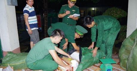 Lao Cai: Bat giu hon 1 tan thuc pham dong lanh van chuyen trai phep - Anh 1