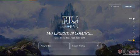 MU Legend cho phep tai game ve truoc ngay mo cua thu nghiem - Anh 1