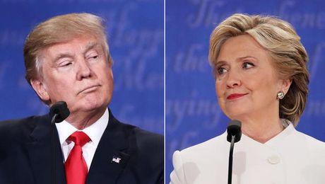 Clinton dan truoc Trump voi cach biet 2 con so - Anh 1