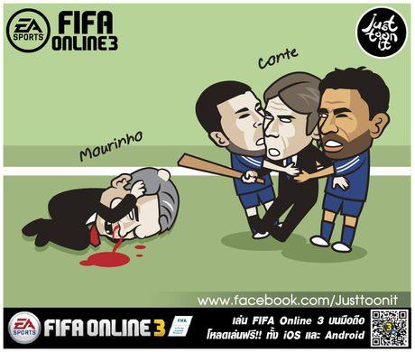Hi hoa Conte cung Chelsea dap vo xe bus cua Mourinho - Anh 2