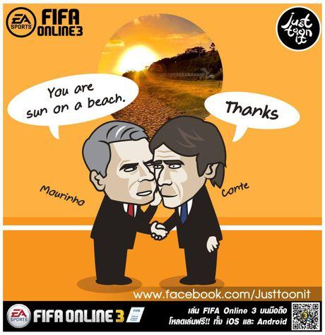 Hi hoa Conte cung Chelsea dap vo xe bus cua Mourinho - Anh 3