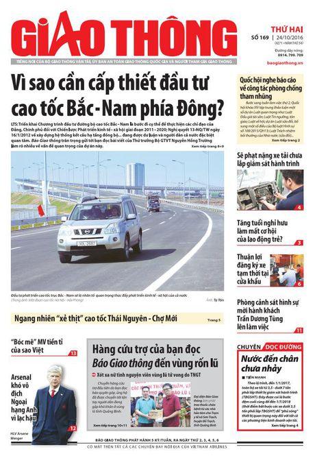 Bao Giao thong 24/10: Phat xe tai chua lap GSHT, tang tuoi nghi huu - Anh 1