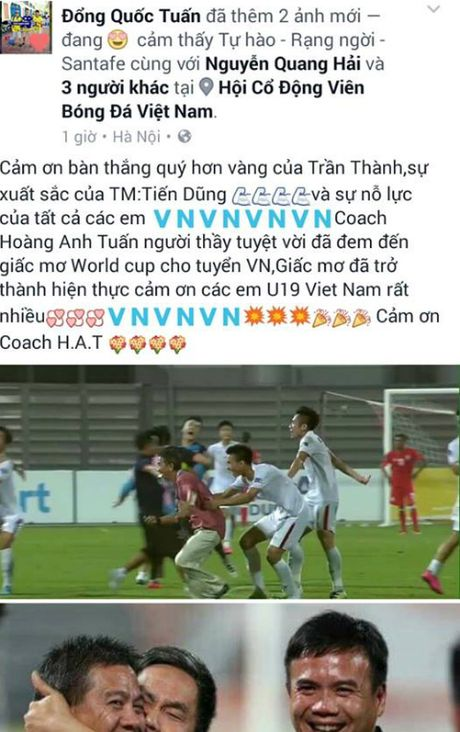 U19 Viet Nam 'ngap' loi chuc qua facebook - Anh 1
