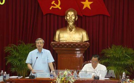Doan Kiem tra cua Bo Chinh tri lam viec voi Thanh uy Can Tho - Anh 1