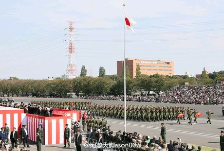 Anh Luc luong Phong ve Nhat Ban duyet binh cung My - Anh 2