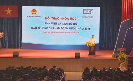 Khai mac Hoi thao ' Nghien cuu khoa hoc cua sinh vien va can bo tre cac truong dai hoc su pham' - Anh 1