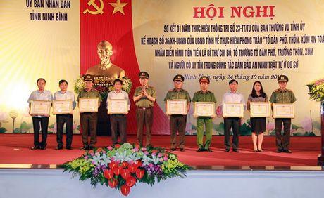 "Bo truong Bo CA To Lam du, chi dao Hoi nghi ve xay dung phong trao ""To dan pho, thon, xom an toan"" tai tinh Ninh Binh - Anh 1"