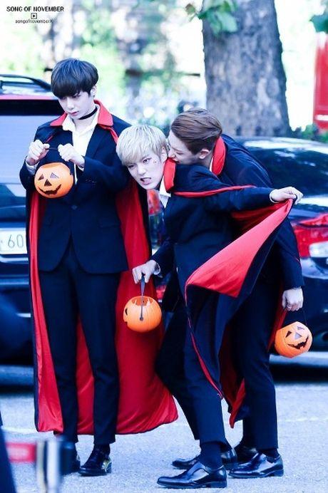 Goi y hoa trang Halloween tu idol Han - Anh 10