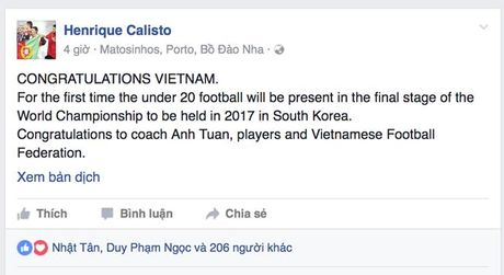 HLV Calisto, cac dan anh ca tung chien cong cua U19 Viet Nam - Anh 1