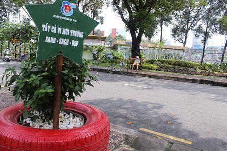 Pho phuong Sai Gon khoac mau ao moi bang nhung chau hoa dang yeu - Anh 13
