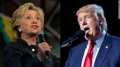 Khoang cach giua Hilary Clinton va Donald Trump lan dau tien dat 2 con so - Anh 1