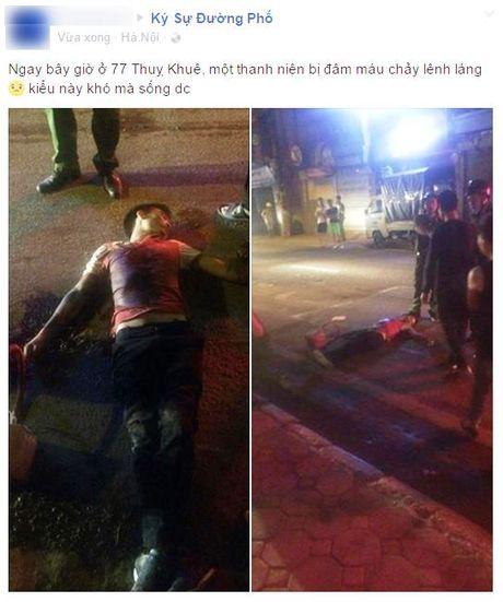 Nam thanh nien chet oan khi gap phai 2 nhom hon chien o Tay Ho, Ha Noi - Anh 1