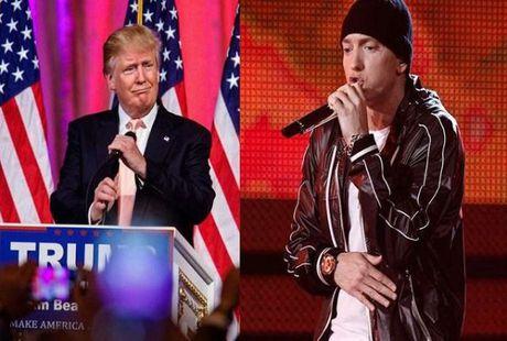 Donald Trump tro thanh doi thu cua Eminem - Anh 2
