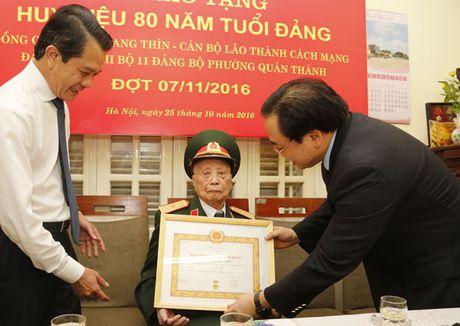 Bi thu Thanh uy trao Huy hieu Dang cho dang vien lao thanh - Anh 1