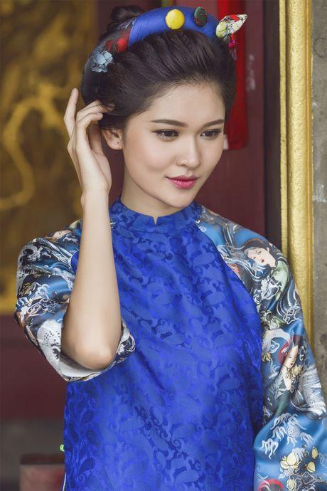 Ngam 'co Tam' cua Hoa hau Viet Nam trong ao dai truyen thong - Anh 15