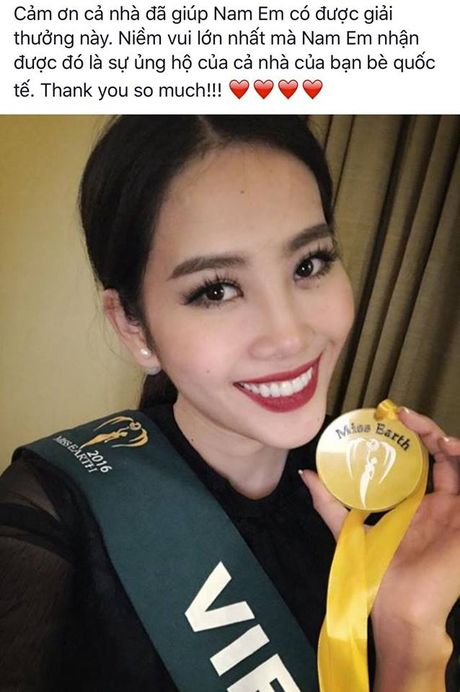 Nam Em tiep tuc doat huy chuong vang trong phan thi Hoa hau anh tai Miss Earth 2016 - Anh 1
