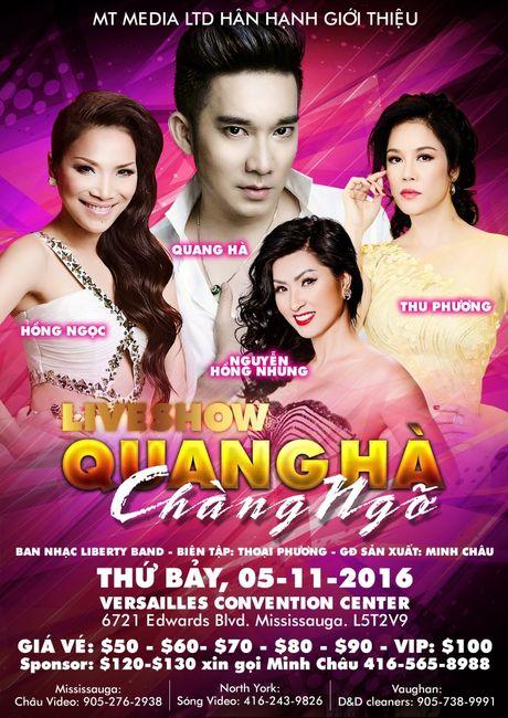 Quang Ha thuc hien live show rieng tai Canada - Anh 1