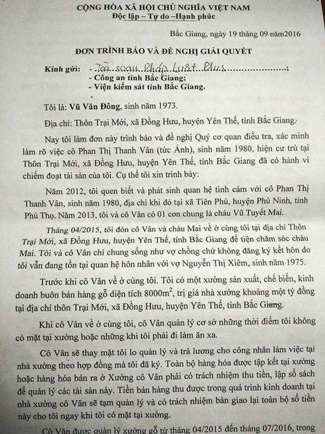 Co vo ho chung song voi nguoi tinh roi lua dao hang tram trieu dong - Anh 1