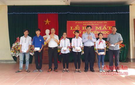 Gan 340 trieu ung ho Quy khuyen hoc xa Thanh Yen (Thanh Chuong) - Anh 1