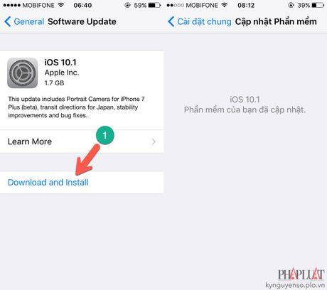 2 cach cap nhat iOS 10.1 cho iPhone - Anh 1