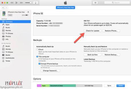 2 cach cap nhat iOS 10.1 cho iPhone - Anh 2