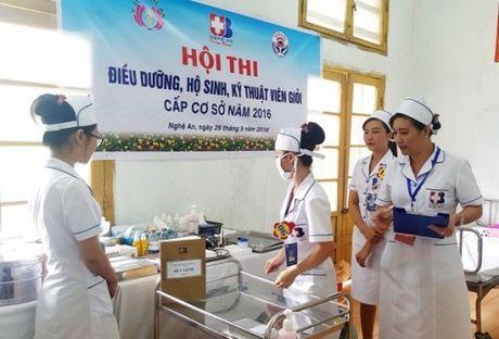 BV Ung buou Nghe An to chuc Hoi thi Dieu duong-Nu ho sinh gioi 2016 - Anh 2