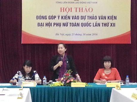 Tong LDLDVN: Lay y kien dong gop vao Du thao Van kien Dai hoi Phu nu toan quoc lan thu XII - Anh 1
