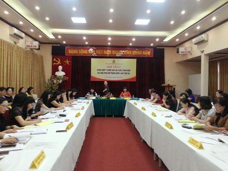 Tong LDLDVN: Lay y kien dong gop vao Du thao Van kien Dai hoi Phu nu toan quoc lan thu XII - Anh 2