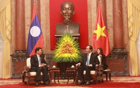 Chu tich nuoc Tran Dai Quang tiep Thu tuong Lao Thongloun Sisoulith - Anh 2