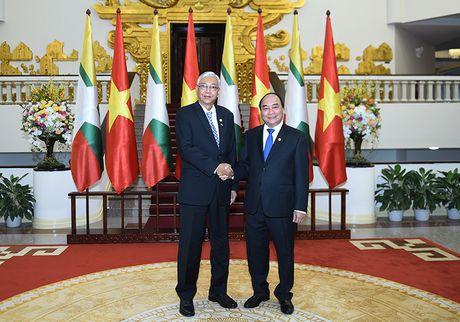 Thu tuong Nguyen Xuan Phuc hoi kien Tong thong Myanmar - Anh 1