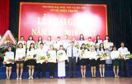 Co so Truong Dai hoc Noi vu Ha Noi tai mien Trung khai giang nam hoc moi 2016-2017 - Anh 1