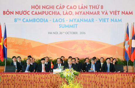 Tuyen bo chung Hoi nghi cap cao hop tac Campuchia- Lao – Myanmar – Viet Nam - Anh 1