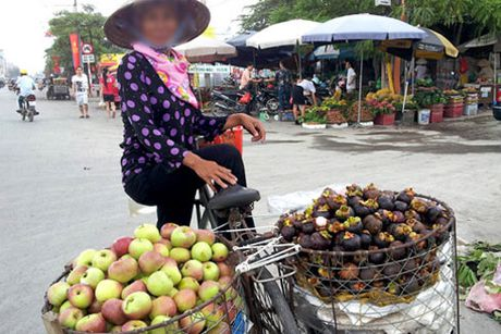 Hoa qua Trung Quoc 'khoac ao' hang Viet - Anh 1