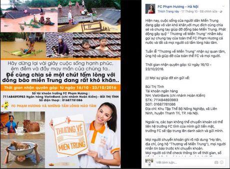 Nhiet tinh keu goi giup do dong bao mien Trung: Day la dieu cac fan khien than tuong tu hao! - Anh 3