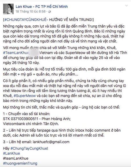 Nhiet tinh keu goi giup do dong bao mien Trung: Day la dieu cac fan khien than tuong tu hao! - Anh 5