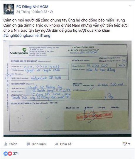 Nhiet tinh keu goi giup do dong bao mien Trung: Day la dieu cac fan khien than tuong tu hao! - Anh 7