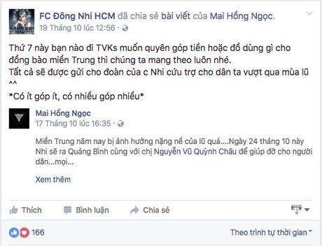 Nhiet tinh keu goi giup do dong bao mien Trung: Day la dieu cac fan khien than tuong tu hao! - Anh 8